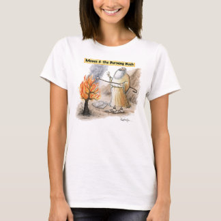 Moses Burning Bush Toasting Marshmallow Tee Shirt