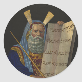 Moses by Henry Schile 1874 Round Sticker