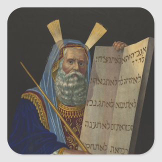 Moses by Henry Schile 1874 Square Sticker
