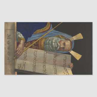 Moses by Henry Schile 1874 Rectangular Sticker