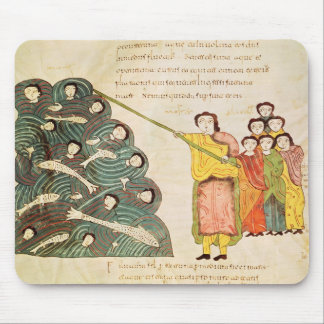 Moses closing the Red Sea on the Egyptians Mouse Pad