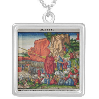 Moses crossing the Red Sea Silver Plated Necklace