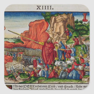 Moses crossing the Red Sea Square Sticker