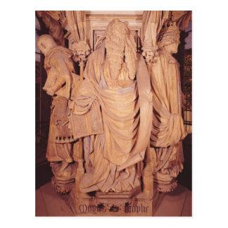 Moses, detail from the hexagonal pedestal postcard