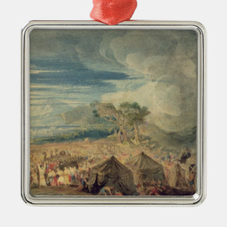 Moses dividing the waters of the Red Sea Christmas Ornament