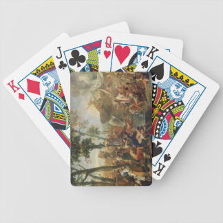 Moses Drawing Water from the Rock (oil on canvas) Bicycle Playing Cards