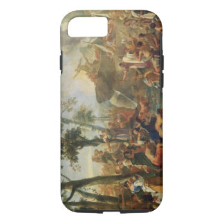 Moses Drawing Water from the Rock (oil on canvas) iPhone 8/7 Case