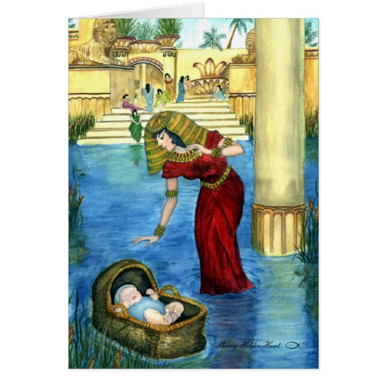 Moses in a Basket Card