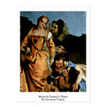 Moses In Basket In Water By Giovanni Tiepolo Post Card
