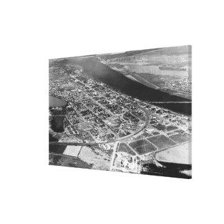 Moses Lake, WA Aerial View of Town Photograph Canvas Print