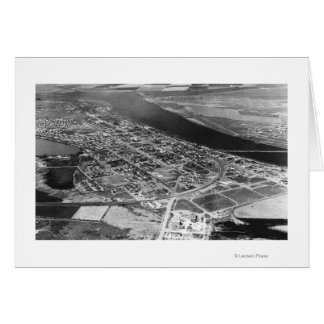 Moses Lake, WA Aerial View of Town Photograph Card