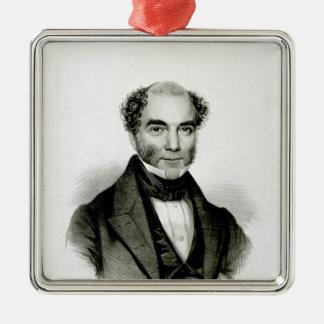Moses Mendelssohn Silver-Colored Square Decoration