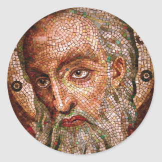 Moses Mosaic in the Cathedral Basilica of St Louis Round Sticker