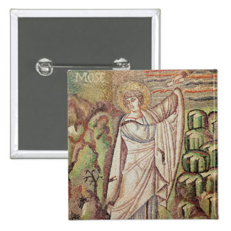 Moses on Mount Sinai 15 Cm Square Badge