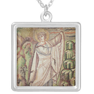 Moses on Mount Sinai Silver Plated Necklace