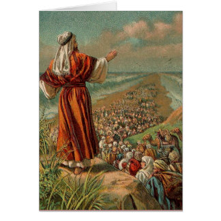 Moses Parts the Red Sea Card