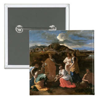 Moses Rescued from the Water, 1647 15 Cm Square Badge