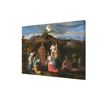 Moses Rescued from the Water, 1647 Gallery Wrap Canvas