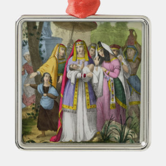 Moses Saved by Pharaoh's Daughter, from a bible pr Christmas Ornament