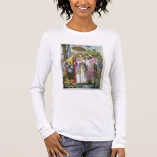 Moses Saved by Pharaoh's Daughter, from a bible pr Long Sleeve T-Shirt