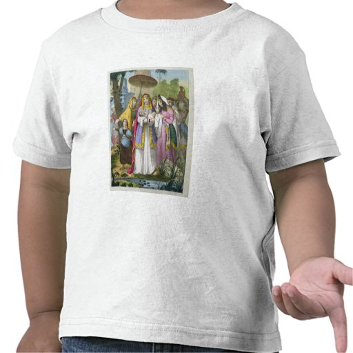 Moses Saved by Pharaoh's Daughter, from a bible pr T Shirts