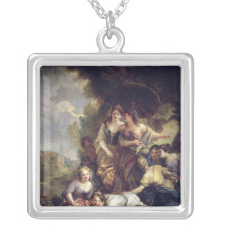 Moses Saved from the Water Silver Plated Necklace
