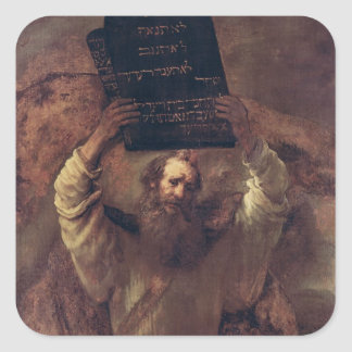 Moses Smashing the Tablets of the Law, 1659 Square Sticker