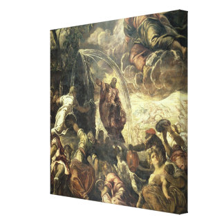 Moses Striking Water from the Rock, 1575 Canvas Print