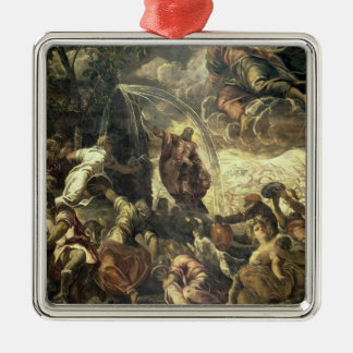 Moses Striking Water from the Rock, 1575 Christmas Ornament