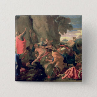 Moses Striking Water from the Rock, 1649 15 Cm Square Badge