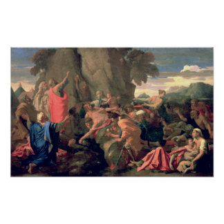Moses Striking Water from the Rock, 1649 Poster