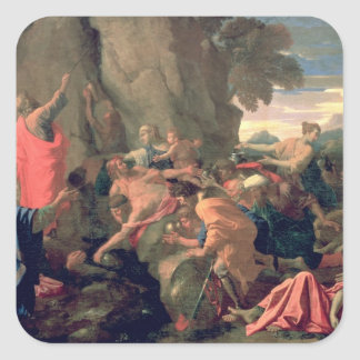 Moses Striking Water from the Rock, 1649 Square Sticker
