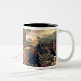 Moses Striking Water from the Rock, 1649 Two-Tone Coffee Mug