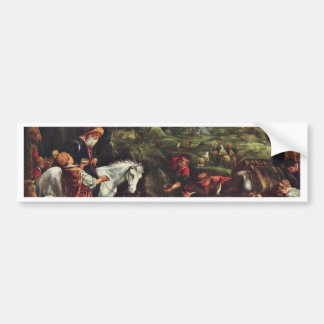 Moses Striking Water From The Rock By Ponte Jacopo Bumper Sticker