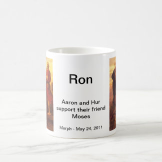 Moses supported by Aaron and Hur Coffee Mug