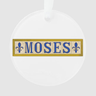 Moses Surname Ornament