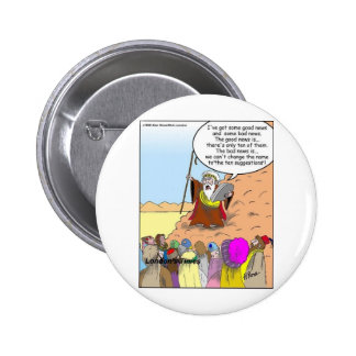 Moses & The Ten Suggestions Funny Gifts & Tees 6 Cm Round Badge