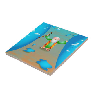 Moses Small Square Tile