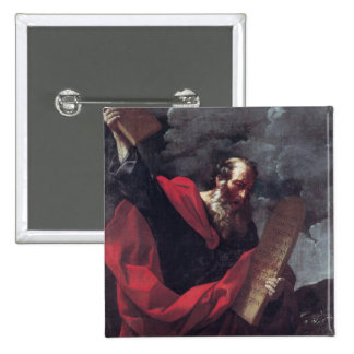 Moses with the Tablets of the Law 15 Cm Square Badge
