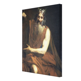 Moses with the Tablets of the Law, c.1627-32 Gallery Wrap Canvas