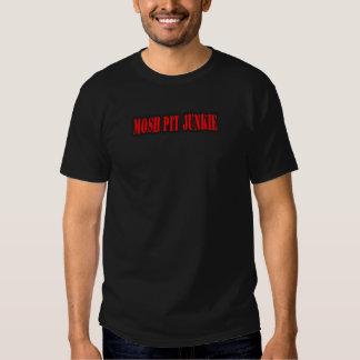 MOSH PIT JUNKIE guys girls punk rock mosh pit T-shirts