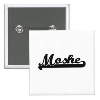 Moshe Classic Retro Name Design 15 Cm Square Badge