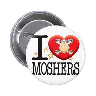 Moshers Love Man 6 Cm Round Badge
