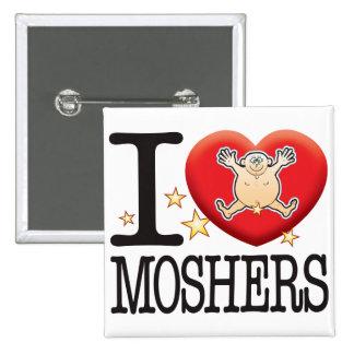 Moshers Love Man 15 Cm Square Badge