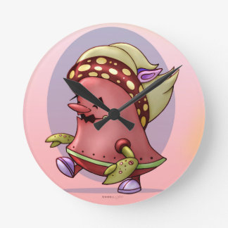 MOSHI ROBOT CUTE CARTOON MEDIUM CLOCK ROUND