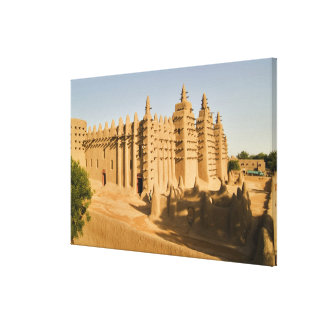 Mosque at Djenne, a classic example of Canvas Print
