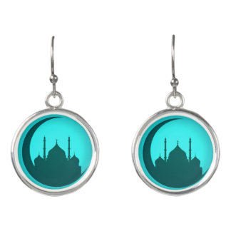 Mosque Background drop Earrings