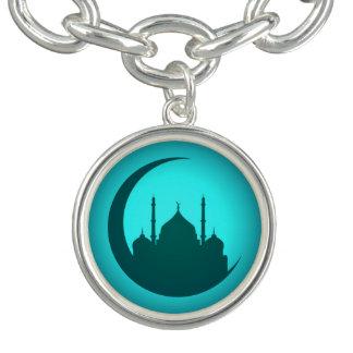 Mosque Background silver Charm Bracelet