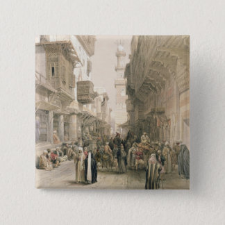"""Mosque El Mooristan, Cairo, from """"Egypt and Nubia"""" 15 Cm Square Badge"""