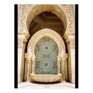 mosque fountain postcard